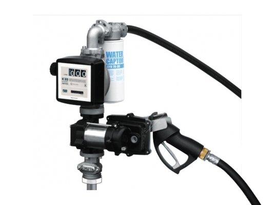 Заправочная колонка для бензина PIUSI DRUM EX50 12V DC K33 ATEX + ручной пистолет арт. F0037500A