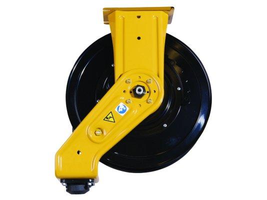 Барабан для шланга под масло Graco серия SD, без шланга в комплекте. Цвет желтый