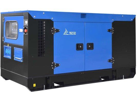 Дизельный генератор ТСС Проф 25 кВт АД-25С-Т400-1РКМ7 в шумозащитном кожухе арт. 014993